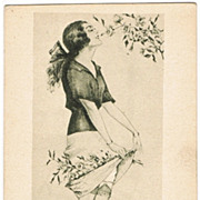 Max Brüning Postcard Young Lady in Spring