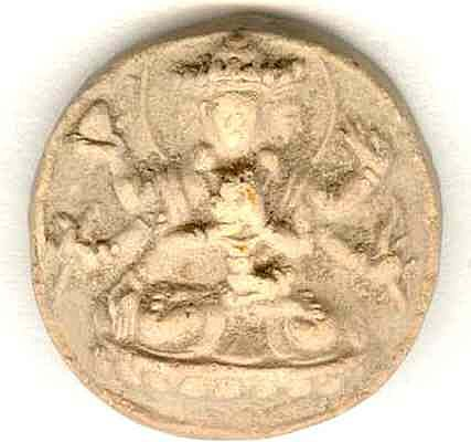 Antique Buddhist token, Earthenware 18 – 19th Century