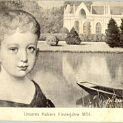 Juvenile Emperor Franz Josef in 1834: Beautiful old postcard.