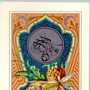 Old lithographed Postcard with Turkey Motif