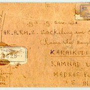 1948: Air Mail Singapore to India.