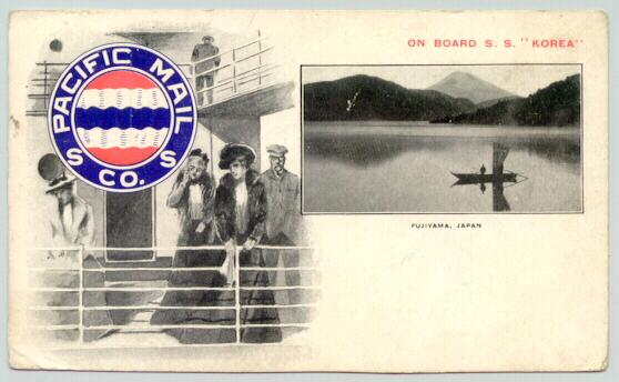 On board S.S. Korea Pacific Mail