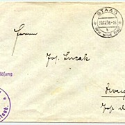"1938: Germany "" Staab – Wir sind frei"" cancellation on cover"