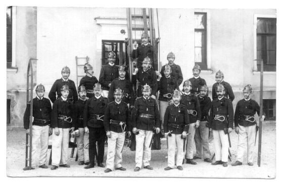 Old vintage Photo of Austrian Fire Brigade.