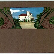 1913 Postcard Art Deco Jugendstil Handcolored