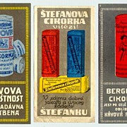 3 old Coffee - Advertising Labels from Europe