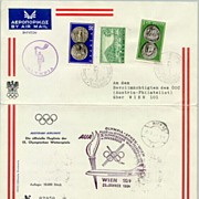 Greece / Austria: Olympic Games letter. 10,000 issued