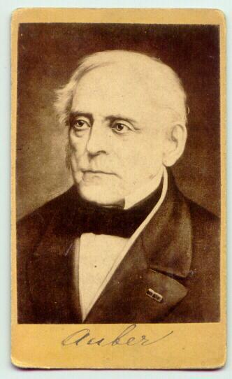 ca. 1860: The famous composer Aubert on Carte de Visite