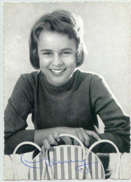 European Singer Conny Froboess. Autograph with COA