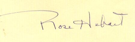 Actor Rose Hobart Letter with Autograph. COA