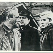 Karl Malden: Autograph on b/w photo. COA