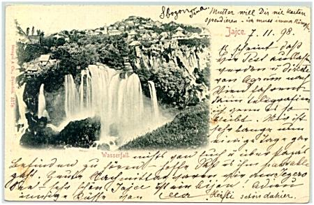 1898: Greetings from Sarajevo, Bad Jaice, old Turkey