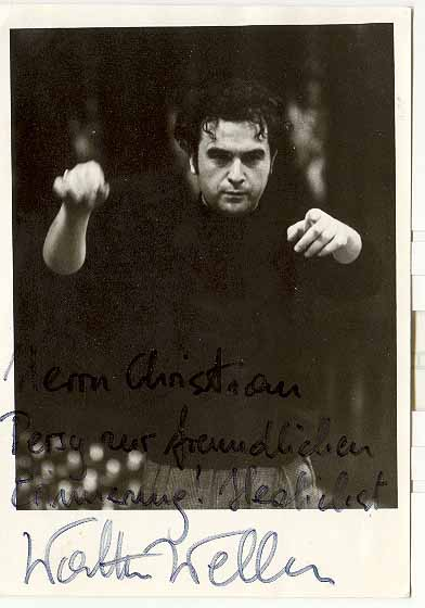 Conductor Walter Weller: Authentic Autograph on b/ photo from Wien