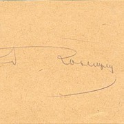 Autograph of 2. Infantry Corps Commander, Josef von Roth, WW1