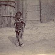 Ca. 1900: China. Tientsin. Charming Photo with Kids