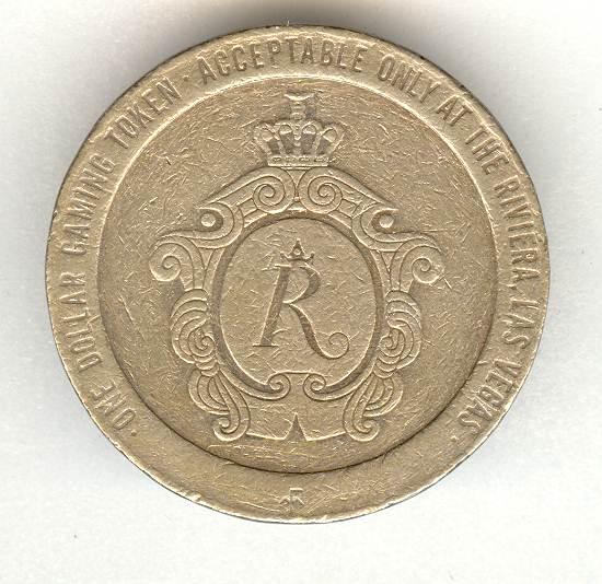 1979: Casino Rivera Gaming Chip. 1 Dollar