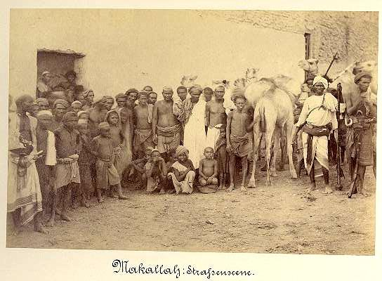 Makallah Street Scene. Fine old Photo from Kenya, Africa