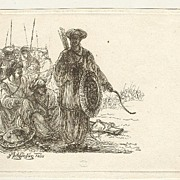 1808: Etching of Turkish soldiers by F. Fischer.