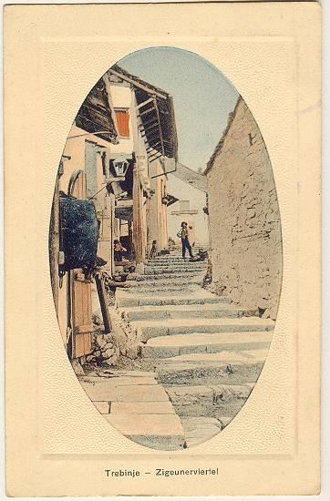 Herzegovina Postcard of Trebinje Gypsy Quarters Imperial Austria
