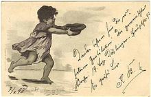 Imperial Austria Hungary Lithographed Postcard of Gypsy Child from 1898