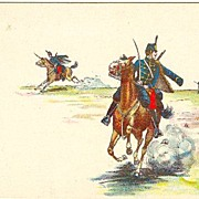 Ca. 1905: Imperial Austria - Hungary: Lithographed Postcard of Hussars