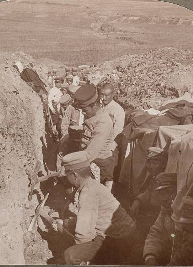 """Russian – Japanese War: """" Digging to Victory """""""