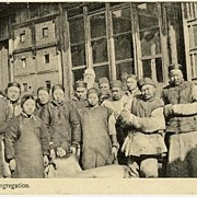 China 1920: A Village Congregation. b/w Postcard