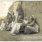 1890s: Native Women, Omdurman. b/w postcard