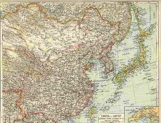 1898 old map of china and japan printed in germany from 1898 old map of china and japan printed in germany gumiabroncs Image collections