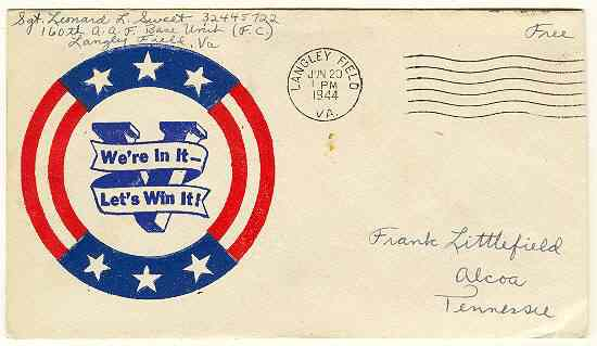 1944: Patriotic Cover from with Victory Slogan
