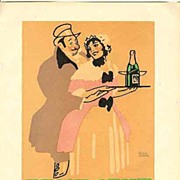 1914: Decorative Litho Print for Feist – Sekt ( Sparkling Wine )