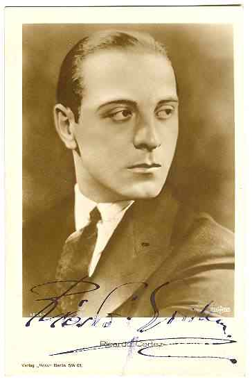 Ricardo Cortez Autograph on Ross Photo. CoA. Ca. 1925