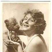 Ca. 1920: Movie Star Lya Mara with Teddy Bear.