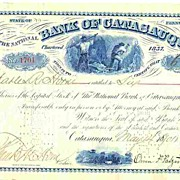1901: Bank of Catasauqua. Decorative old Share
