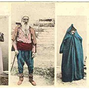 1911: Bosnia: Imperial Austria Postcard. Muslims