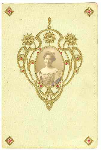 Attractive, embossed Art Nouveau Postcard