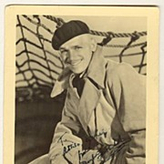 Douglas Fairbanks Jr. Autograph on early Ross Postcard. CoA