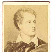 George Gordon Byron, 6th Baron Byron. Old Photo CdV