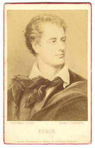 George Gordon Byron, 6th Baron Byron. Old Photo CdV
