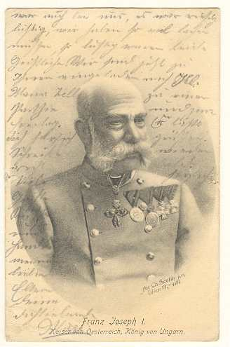 Emperor Francis Joseph I: Postcard from 1911