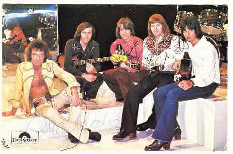 The Hollies: Early Autographs on Polydor Postcard
