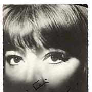Juliette Greco Autograph. CoA