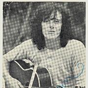 Donovan: Early Autograph of Singer Song Writer. CoA