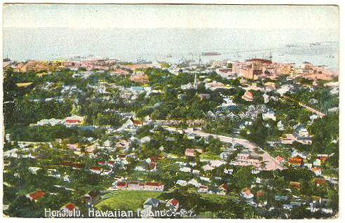 Hawaii Vintage Postcard: Honolulu