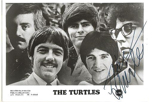 The turtles old pop band signed 10 x 8 from curioshop on ruby lane for Michal turtle music from the living room