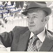 Sir Alec Guinness Autograph. CoA