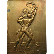 Sports Medal: Decorative Bronze, 1930