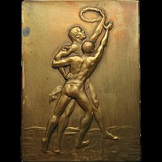 Sports Medal: Decorative Bronze, 1930