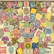 Stamps. Decorative Chromo Lithograph, 1901