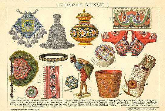 Indian Arts. Chromolithograph from 1901